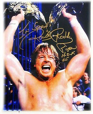 Wwe Hotrod Rowddy Roddy Piper Signed Autographed 8X10 Photo With Coa 2