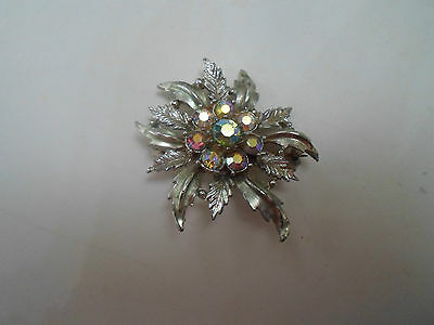 100% Retro Kitsch Floral+Leafy Brooch Costume Jewellery #12