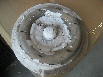 "LARGE victorian age CIRCULAR medallion embellishments OLD paint 6.25"" dia x 1.25"