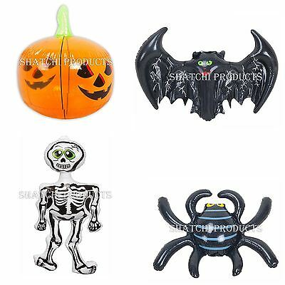 Halloween Inflatable Decorations Pumpkins Skeleton Spider Bat Party Supply Home