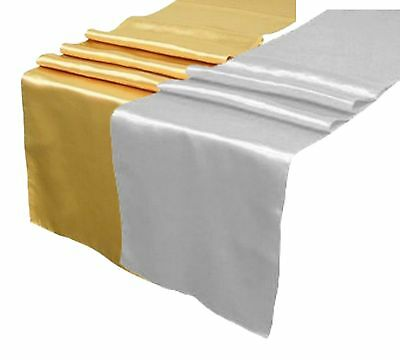 Custom Printed satin Table Runners in Gold or Silver FREE PRINTING