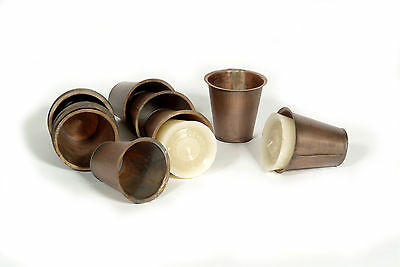 4 Sugar Mold Tin Insert Cups-Flat Bottom-Mexican-Candles-Sugar Mold Candleholder