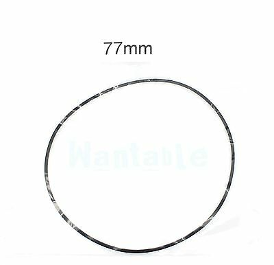 77mm Rubber Drive Belt Replacement Part for Cassette Tape Deck Recorder