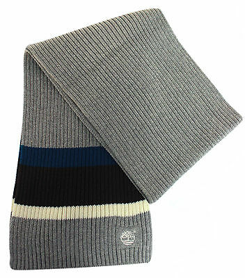 Timberland Childrens Kids Scarf Striped Grey Blue T0226 052 UW13