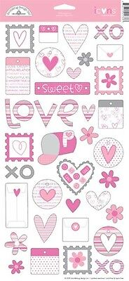 Doodlebug Design LOOPY LOVE Stickers Scrapbooking Paper Crafts Cardmaking