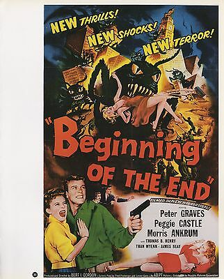"""2003 Vintage SCI-FI /""""WORLD WITHOUT END/"""" COLOR Lithograph MINI POSTER"""