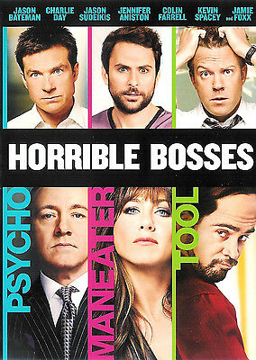 Horrible Bosses ~ Jennifer Aniston Kevin Spacey Jamie Foxx ~ DVD ~ FREE Shipping