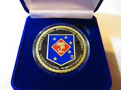 US MARINE CORPS SPECIAL OPERATIONS REGIMENT Challenge Coin w/ Presentation Box