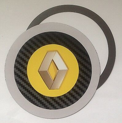 Magnetic Tax disc holder fits any renault clio grand scenic laguna espace yellow