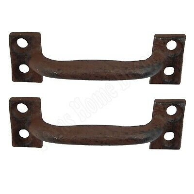 """2 Small Antique Style 3.5"""" Cast Iron Rustic Cabinet Drawer Pull Door Handle"""