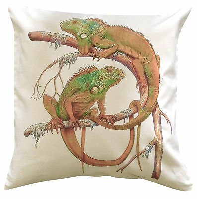 Iguana Themed Cotton Cushion Cover - Perfect Gift