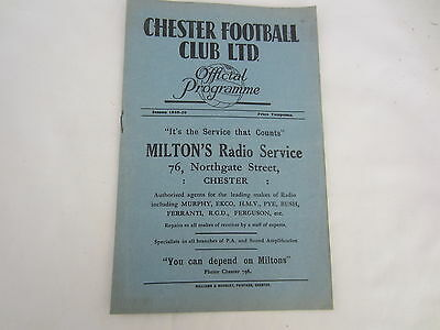 1949-50 FRIENDLY CHESTER FC v STOKE CITY