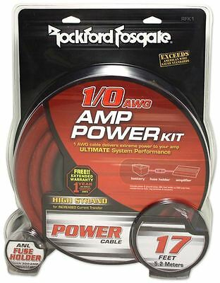 Rockford Fosgate RFK1 1/0 Gauge Amplifier Install Kit Made Of 100% OFC Copper
