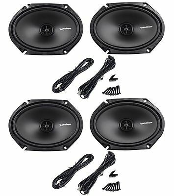 (2) Pairs Rockford Fosgate R168X2 6x8 440 Watt 2-Way Car Audio Speakers