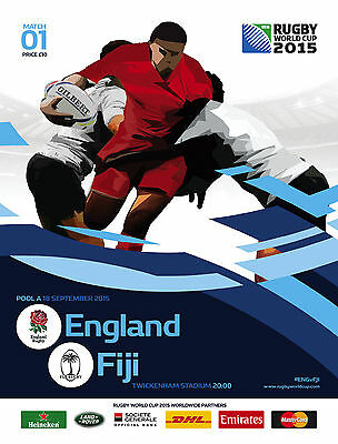 ENGLAND v FIJI RUGBY WORLD CUP 18 Sep  2015 OFFICIAL PROGRAMME @ TWICKENHAM