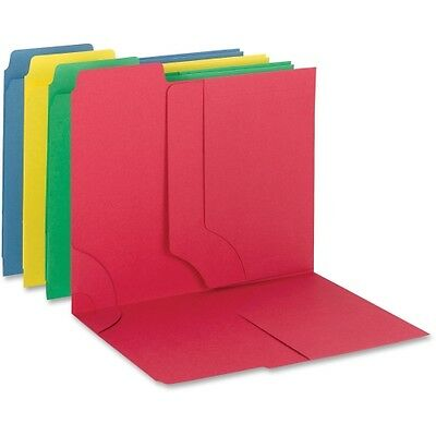 Smead 3-In-1 Supertab Section Folders 1/3 Cut Top Tab Letter Assorted 12/pack