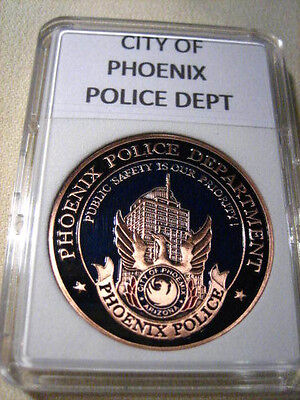 CITY OF PHOENIX Police Dept. Commemorative Challenge Coin (COPPER)
