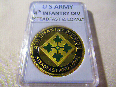 US ARMY 4th INFANTRY DIVISION Challenge Coin