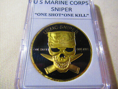 "US MARINE CORPS SNIPER ""ONE SHOT * ONE KILL"" Challenge Coin"