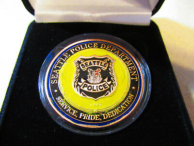 THE CITY OF SEATTLE WASHINGTON POLICE DEPARTMENT CHALLENGE COIN
