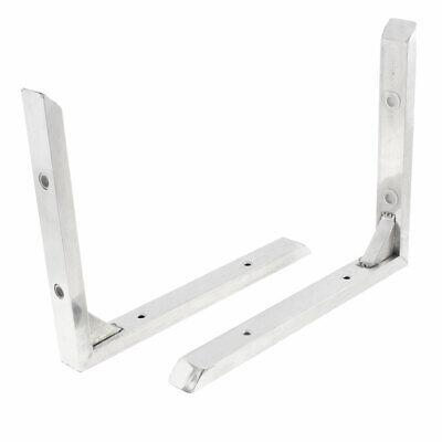 Stainless Steel Corner Brace Joint Right Angle Bracket Silver Tone 25x20cm 2Pcs