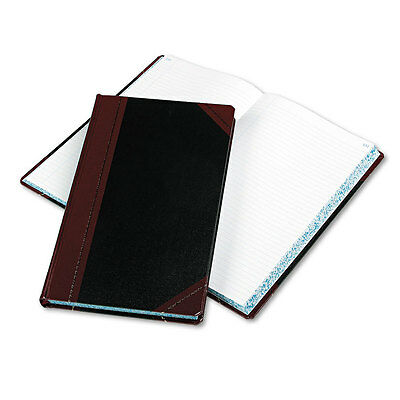 Boorum & Pease Record/account Book, Black/red Cover, 300 Pages, 14 1/8 X 8 5/8