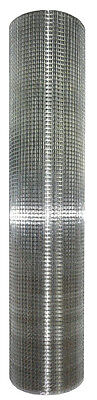 "Galvanized Metal Hardware Cloth, 36"" x 50', 1/2"" Wire Mesh Fencing, 19 Gauge"