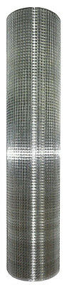 "Galvanized Metal Hardware Cloth, 48"" x 100', 1/2"" Wire Mesh Fencing, 19 Gauge"