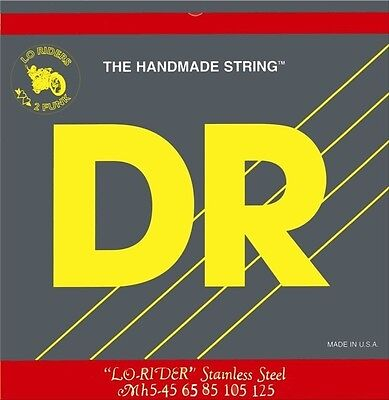 NEW - DR LO-RIDER 4 String Electric Bass Strings, .045-.105 MH-45