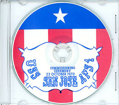 USS San Jose AFS 7 Commissioning Program 1970 United States Navy Plank Owners