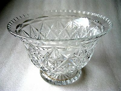 CRYSTAL DECORATIVE PEDESTAL  BOWL Perfect condition
