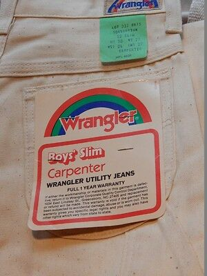 Nos Vintage 1960 70s Wrangler Carpenter Jeans Painter Pants Utility Boys 12 Slim