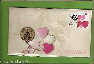 2014   Forever Love Romance Valentines  Day   Pnc $1  Stamped Envelope