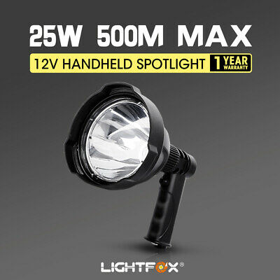 25W CREE Handheld Spot Light Rechargeable LED Spotlight Hunting Shooting 12V