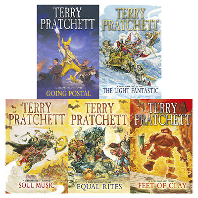 Discworld Novels Collection(Feet Of Clay,Equal) 5 Books Set By Terry Pratchett