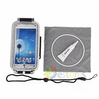 Meikon 40M 130ft Waterproof Diving Phone Housing Case Cover For Samsung S5【UK】