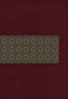 KJV Study Bible, Leathersoft, Maroon/Brown, Red Letter Edition: Second Edition b