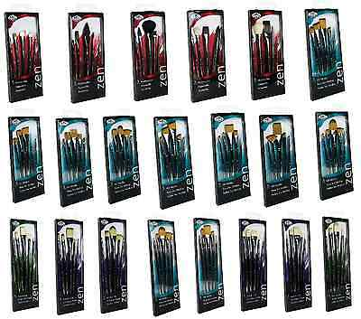 Royal Langnickel Artist Zen Series Paint Brush Sets Of 5 Acrylic Watercolour Oil