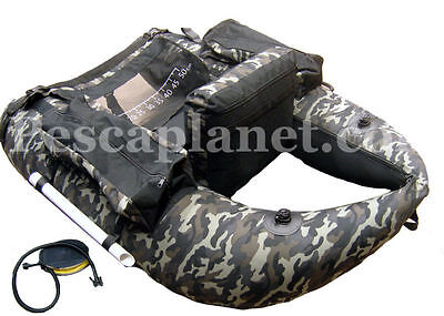 9502001 Belly Bateau Camouflage Fishing Lake mars 4 Chambres Air 2 porte-cannes