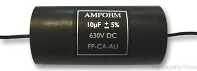 One CPC 4.7 uF 630 VDC 85°C 5/% Axial Low ESR Audio Capacitor NEW NOS Made UK 1