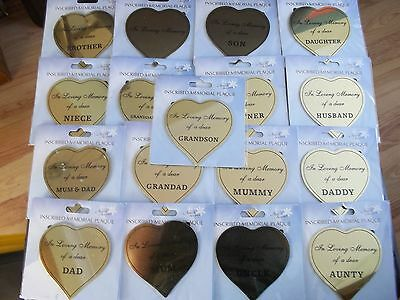 Inscribed Memorial Plaque In loving Memory  Mum Dad Husband & more **NEW STOCK**