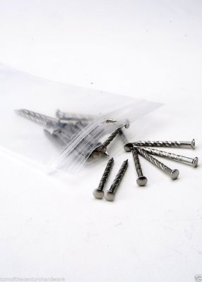Screw Nails #13X1-1/4 Oval Countersunk Pewter for Carpet Metal Trim SNP13114