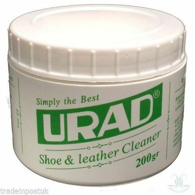 URAD Shoe & Leather Cleaner - High Shine Without Buffing - 200g Tub