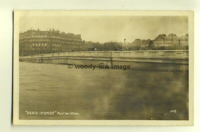 ft1020 - France - Paris Floods , January 1910 , Pont de L'Alma - postcard