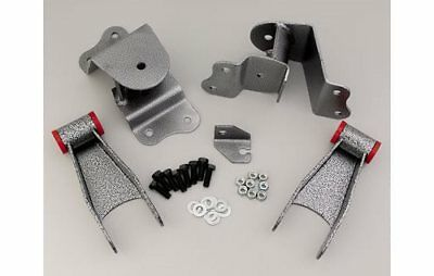"""DJM Shackles and Hangers 4"""" Drop 2.5"""" Wide Spring Chevy/GMC C1500 Pickup Kit"""