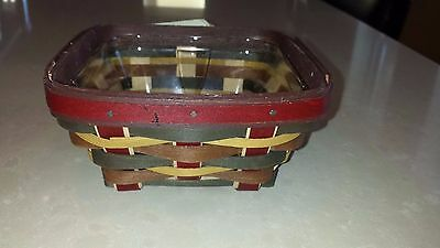 Rare Longaberger Dreams Live Here Incentive Basket with Protector -MINT!
