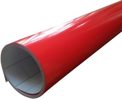 Gloss Red Vinyl Car Wrap (Air/Bubble Free) 1520mm x 400mm Long