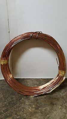 "Bare Copper Wire Roll 1/16"" Thick Soft 100' Roll"