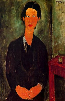 Nice art Oil painting amedeo modigliani - Young man Portrait of Chaim Soutine
