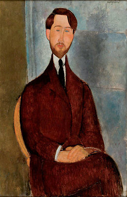 No framed Oil painting amedeo modigliani - Portrait of Leopold Zborowski canvas